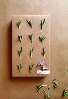 DIY herbal gift wrap