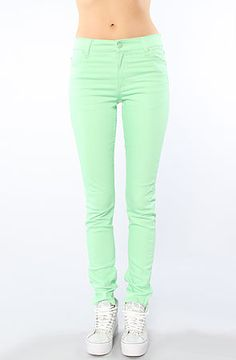 Cheap Monday The Tight Fit Skinny Jean in Kiwi Green : MissKL.com - Cutting Edge Women's Fashion, Accessories and Shoes.