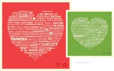 Cardiff Heart & Wales Heart Posters
