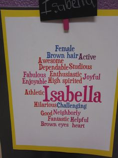 This year I tried a few new back to school activities and LOVE how they turned out!     The first activity was a Wordle of descriptive wor...
