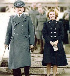 Adolf and Eva in colour