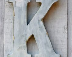 Rustic Wooden Letter, Distressed White