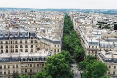 Paris, France. View from Arc de Triomphe.