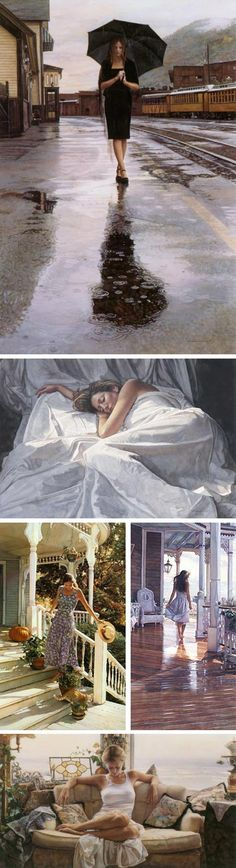 Steve Hanks watercolors