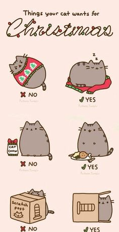 Pusheen and kitty cat Christmas gifts I Love Cats, Cute Cats, Funny Cats, Funny Animals, Cute Animals, Crazy Cat Lady, Crazy Cats, Chat Pusheen, Hilarious