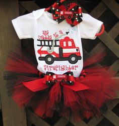 My Daddy Is A Firefighter Tutu Outfit by TutuLulus on Etsy My Baby Girl, Our Baby, Tutu Outfits, Girl Outfits, Cute Kids, Cute Babies, Firefighter Love, Firefighter Baby Showers, Kid Essentials