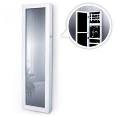 Jago24SMSK06 Jewellery mirror cabinetwhite