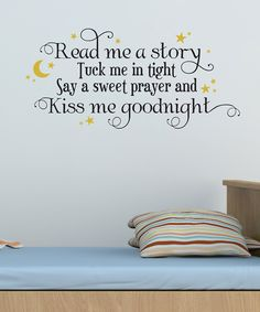 Love Love Love!! Would be great on the kids wall in their bed room! Belvedere Black & Gold 'Read Me a Story' Wall Quote