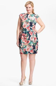 A.B.S. by Allen Schwartz Print Sheath Dress (Plus Size) (Online Only) available at #Nordstrom