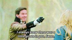 gif once upon a time jennifer morrison Hook ouat Emma Swan captain hook Captain Swan colin o