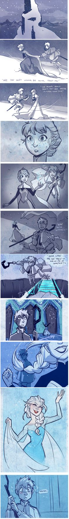 Jack x Elsa( I hope Disney and Dreamworks will tell me that it was not coincidental that this two are exactly the same)