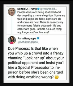 45 doesn't understand the meaning of due process.