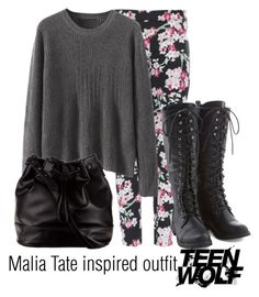 """""""Malia Tate inspired outfit/TW"""" by tvdsarahmichele ❤ liked on Polyvore featuring Armani Jeans and ZALORA"""