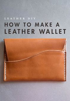 How to Make a Leather Wallet Craft Ideas Leather wallet diy leather craft ideas - DIY Craft Ideas Diy Leather Projects, Leather Diy Crafts, Leather Gifts, Handmade Leather Wallet, Diy Leather Wallet Tutorial, Womens Leather Wallet, Leather Bags, Diy Wallet Mens, Diy Leather Clutch