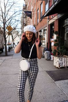 Gingham Trousers New York Street Style Outfit Style / The Streets Of New York | Lauren Rose Style | Bloglovin'