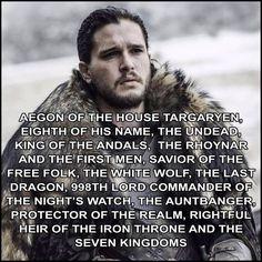 updated titles for Jon Snow, game of thrones season 7, Kit Harington