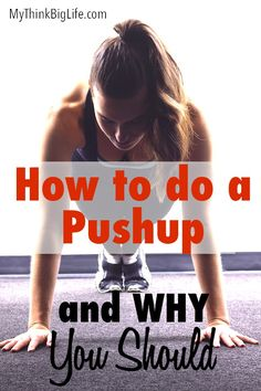 Think learning to do a real pushup is impossible? Think again! Here's how to do a push up and why it's worth doing. I finally learned how to do a push up after years of going about it all wrong. Pushups are an amazing whole body exercise and worth mastering to get the benefits.