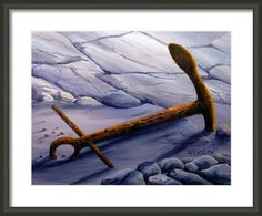 Anchors Aweigh Framed Print By Wayne Enslow Artwork Prints, Framed Prints, Acrylic Paintings, Hanging Wire, Anchors, Prints For Sale, Fine Art America, Anchor