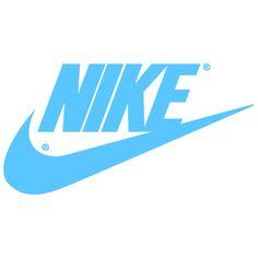 Carolina Blue Nike Logo | Nike Swoosh Logos ❤ liked on Polyvore featuring backgrounds, logo, text, nike i workout
