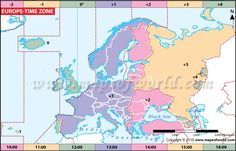 #Europe Time Zone Map
