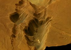 the structure Coprates Catena, a southern part of the Valles Marineres canyon