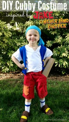 DIY, no-sew Cubby costume from Jake and the Never Land Pirates