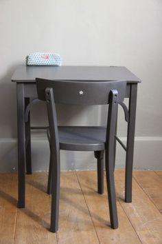 Chaise formica relook e en papier coll multicolore - Customiser chaise formica ...