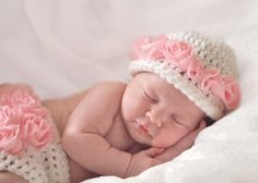 Darling Baby for sweet Etsy site to buy Ruffle Diaper Cover and Hat Set, Crochet Baby Hat and Diaper Cover, Newborn Photo Prop, Baby Girl Hat with Flowers -  Etsy.