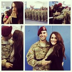 candyymichelle: I'm whole again  my gorgeous babe is back!!! #deployment #accomplished #homecoming #armylove  AWC Says:  Welcome Home SPC Pandoli!
