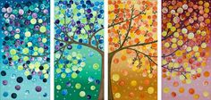 Seasons art. Love the colors and the collage to make a full tree - @Maggy Woodley - these remind me of your seasons trees!