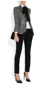 Saint Laurent blazer and tie