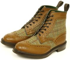 Gorgeous + stylish men's #tweed #brogue boots!!!