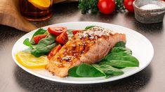 Paleo Diet Menu, Registered Dietitian Nutritionist, Fatty Fish, Low Fat Diets, Mediterranean Dishes, Greek Salad, Baked Salmon, Food Photography, Stuffed Mushrooms