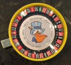 Vintage 1984 New Orleans LA World's Fair Toy Roulette Game Pelican Souvenir