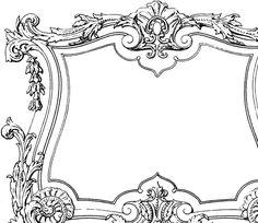 Fabulous Decorative French Frame Image!