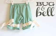 Girls Ribbon Pantaloons  Size 12 months By Bug & by BugandBell, $30.00