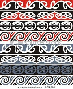 Find Scalable Vector Illustration Series Maori Designs stock images in HD and millions of other royalty-free stock photos, illustrations and vectors in the Shutterstock collection. Thousands of new, high-quality pictures added every day. Arte Tribal, Tribal Art, Samoan Tribal, Filipino Tribal, Tattoos Pulseras, Ta Moko Tattoo, Maori Symbols, Maori Patterns, Loom Patterns