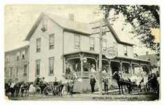 The National Hotel.  Grantsville MD 1909