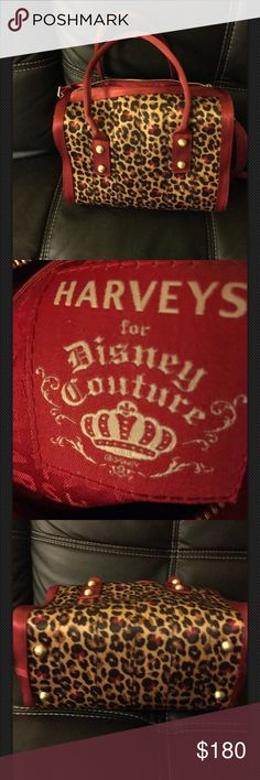 Disney Couture Harvey's Seatbelt Bag Minnie Mouse Leopard Print Complete with matching Minnie Mouse hang tag and cross body strap Harveys Bags Totes