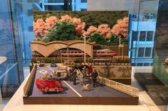Stationery Store Itoya in Japan displays a diorama made from its colored papers.