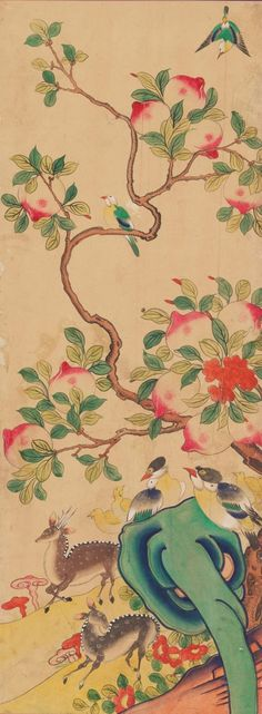 국립고궁박물관 소장작품들 여덟번째 입니다 : 네이버 블로그 Asian, Ceramics, Traditional, Embroidery, Flowers, Prints, Painting, Color, Korean
