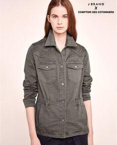 Veste saharienne en coton   Collab J Brand ATOUR - Comptoir des cotonniers 195€