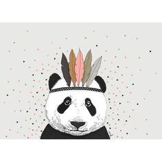 Carte déco Panda Minimel