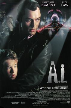- one of the most touching movies ever. Artificial Intelligence, also known as A., is a 2001 science fiction drama film directed, produced and co-written by Steven Spielberg. Sci Fi Movies, Movies To Watch, 2011 Movies, Indie Movies, Action Movies, Love Movie, Movie Tv, Artificial Intelligence Movie, Steven Spielberg Movies