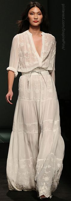 mango white romantic bohemian dress sping 2013.