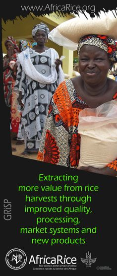 Global Rice Science Partnership (GRiSP) Themes Theme 4: Extracting more value from rice harvests through improved quality, processing, market systems and new products Photo, Poster Design : R.Raman, AfricaRice