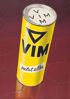 By Lintas AG, 1 9 5 1, Vim putzt alles.