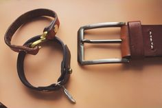 #leather #leathercraft #indonesia #jogja #kulit #hoslygoods #belt #bracelet