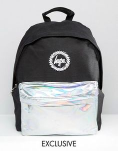 Hype | Hype Exclusive Holographic Contrast Pocket Backpack at ASOS