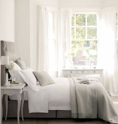 For many,wafty white voile curtains will bring the feeling of a tropical holiday somewhere. #interiordesign #curtains
